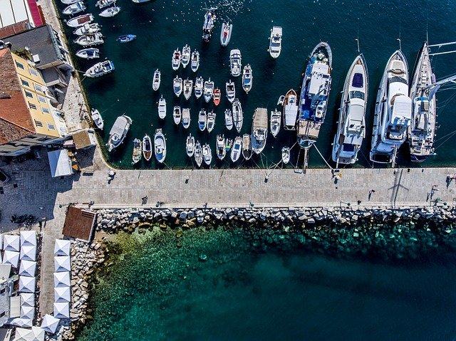 přístav, lodě, moře