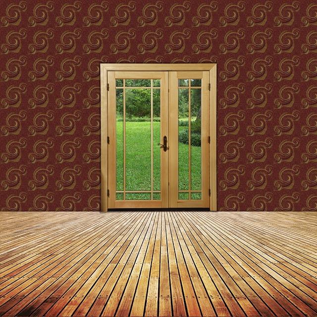 prosklené dveře